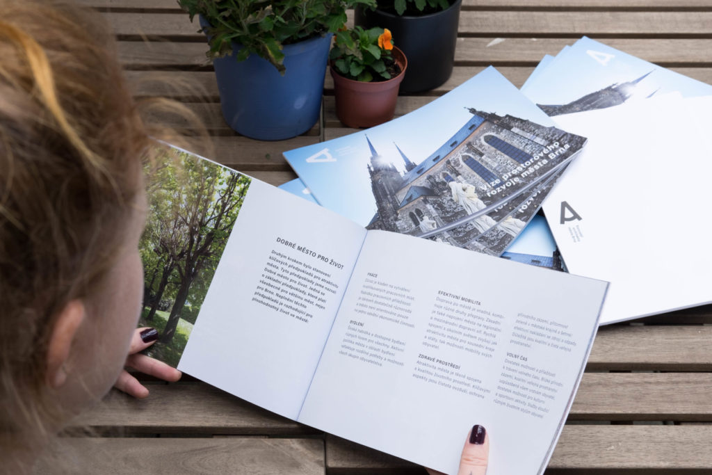 Tištěná publikace Vize prostorového rozvoje města Brna