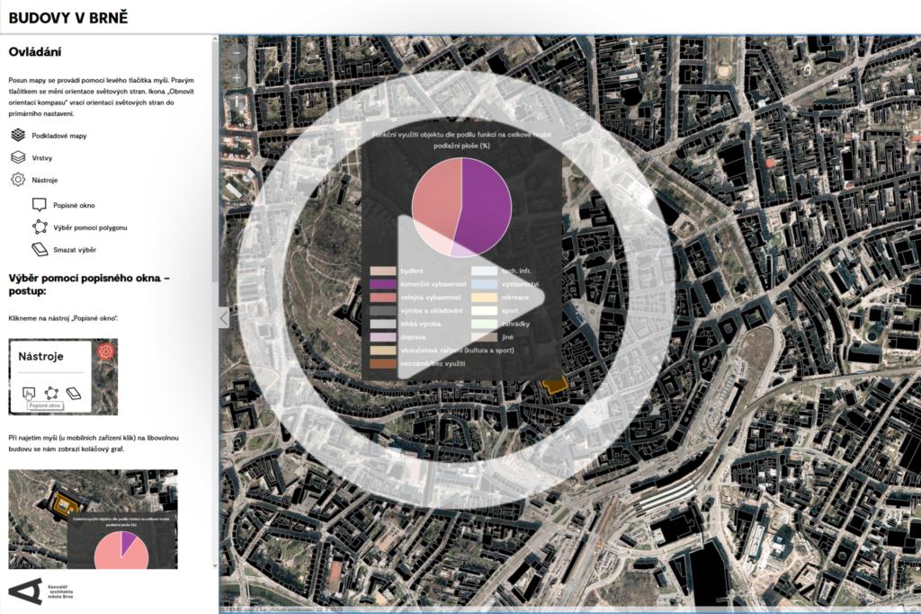 Krátká ukázka interaktivní mapy