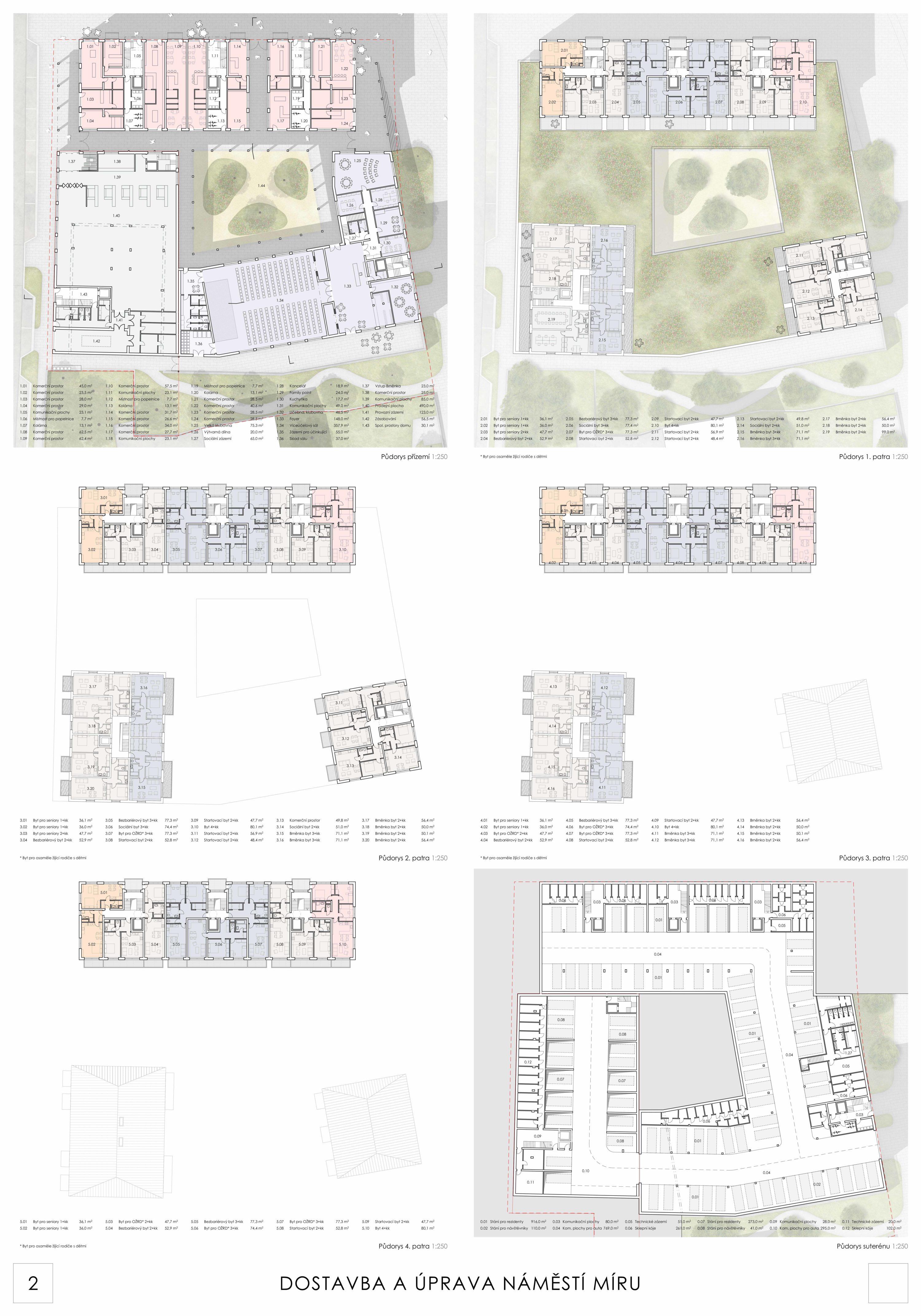 Dostavba a úprava náměstí Míru - Zlámal architekti s.r.o.