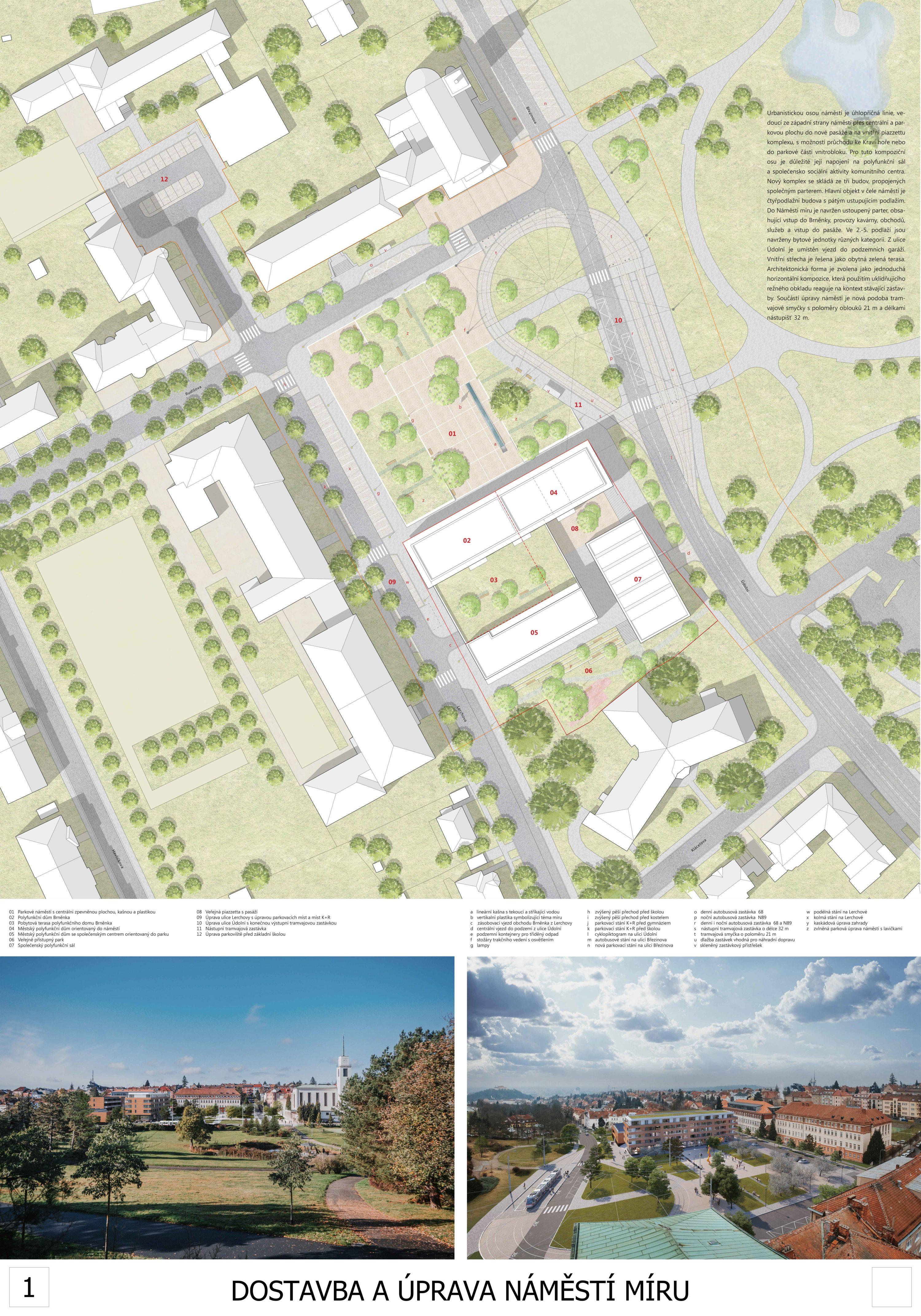 Dostavba a úprava náměstí Míru - ATELIER RAW s.r.o.