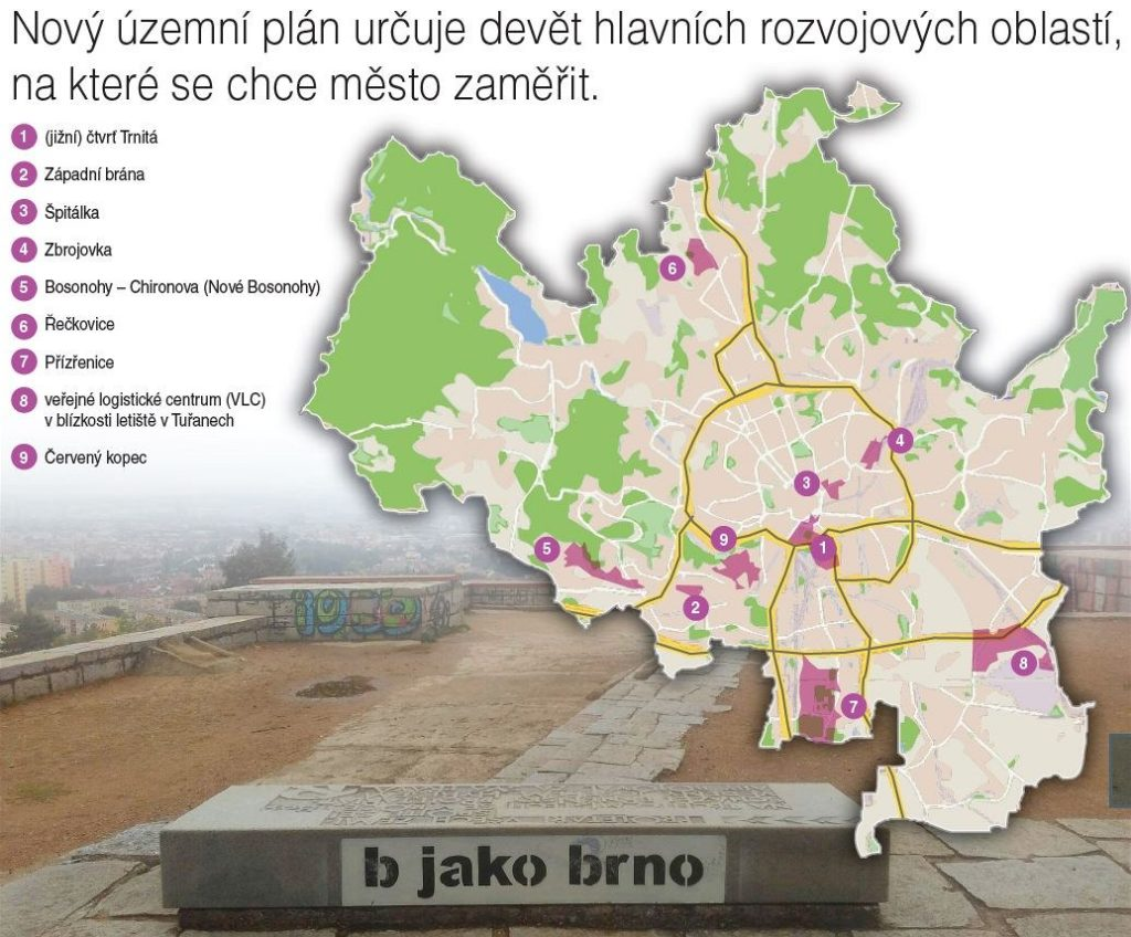 Brno má konečně návrh územního plánu, devět lokalit se zásadně změní