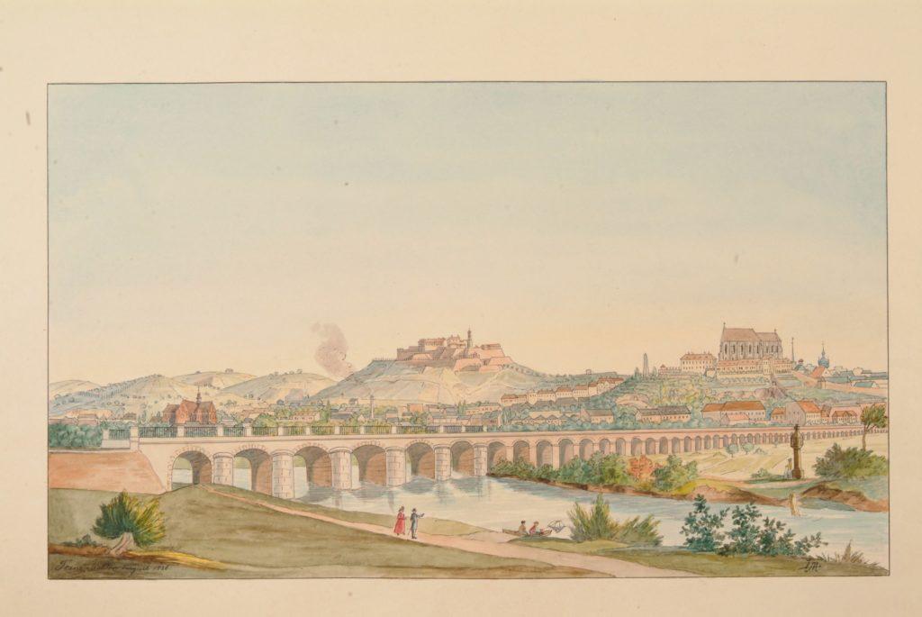 Železniční viadukt, 1838, Archiv města Brna (U c25 539)