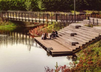 Příklad úpravy břehu jako reference pro poříční park