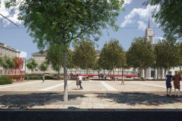 Nové náměstí Míru podle vítězů soutěže zarámují stromořadí i kolonáda