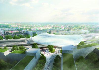 3. cena: ingenhoven architects GmbH, Architektonická kancelář Burian-Křivinka, architekti Koleček-Jura