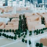Model nové čtvrti Trnitá s novým hlavním nádražím